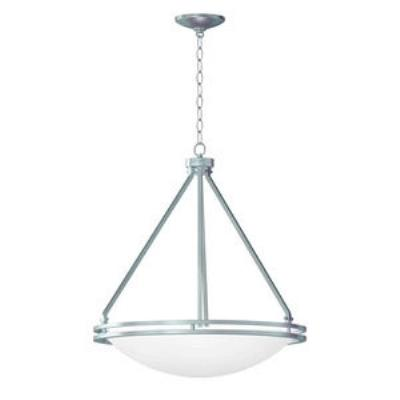 Access Lighting 20462GU-BS/WHT Aztec- Five Light Bowl Pendant
