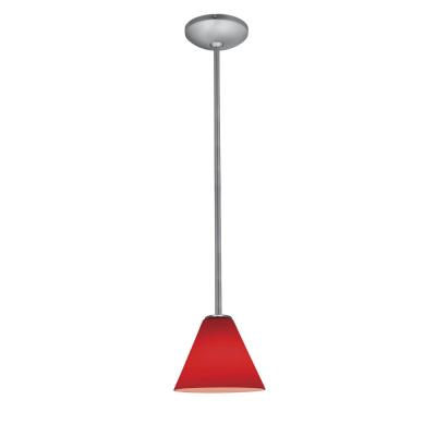 Access Lighting 28004-2R-BS/RED Julia Oriental - One Light Pendant