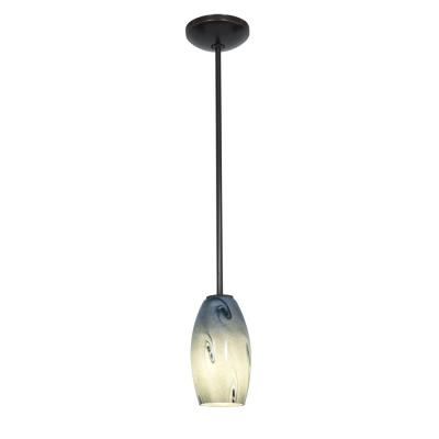Access Lighting 28011-2R-ORB/BLUSKY Sydney Inari Silk - One Light Pendant with Round Canopy