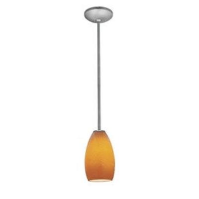Access Lighting 28012-1R-BS/MYA Ami Inari Silk - One Light Pendant with Round Canopy