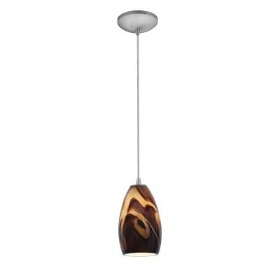 Access Lighting 28012-2C-BS/ICA Tali - One Light Pendant (Cord Hung)