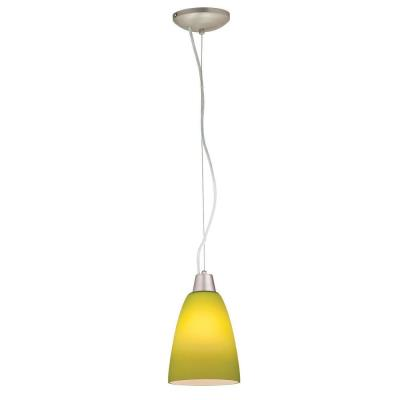Access Lighting 28022-2C-BS/LGR Tali - One Light Cone Pendant (Cord Hung)