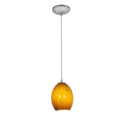 Access Lighting 28023 Tali Ostrich - One Light Pendant with Round Canopy