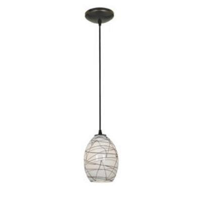 Access Lighting 28823-ORB/ASKY Tali Ostrich Fire Bird - One Light Pendant