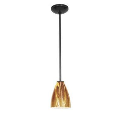 Access Lighting 28025-1C-ORB/AMZ Sydney - One Light Italian Art Pendant (Cord Hung)