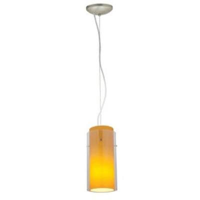 Access Lighting 28033-2C-BS/CLAM Tali - One Light Cylinder Pendant (Cord Hung)