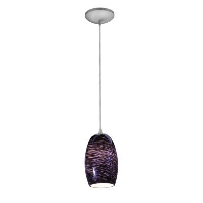 Access Lighting 28078-2C-BS/PLS Tali - One Light Cone Pendant (Cord Hung)
