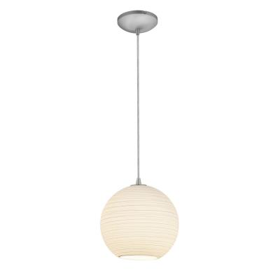 Access Lighting 28088-2C-BS/WHTLN Lantern - One Light Pendant (Cord Hung)