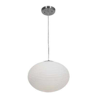 Access Lighting 50180-BS/OPL Callisto - Two Light Ribbed Pendant