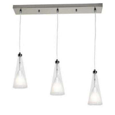 Access Lighting 50544-CH/CLOP Icicle - Three Light Bar Pendant