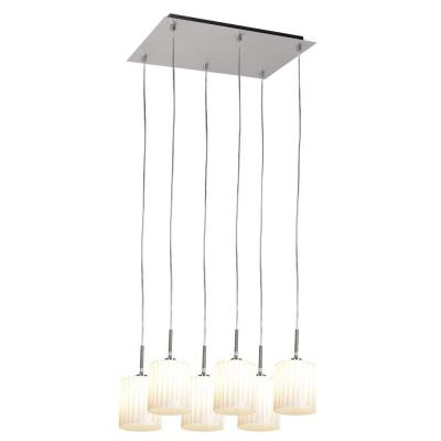 Access Lighting 50965-BS/WH Leilah-- Six Light Pendant