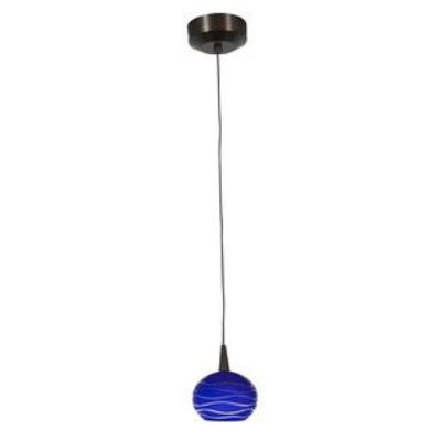 Access Lighting 72979LED-BRZ/BLULN Tungsten - LED Sphere Etched Pendant