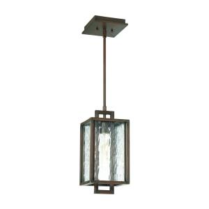 Cubic - One Light Small Outdoor Pendant