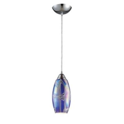 Elk Lighting 10076/1SBI Iridescence - One Light Pendant