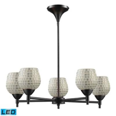 Elk Lighting 10155/5DR-SLV-LED Celina - Five Light Chandelier