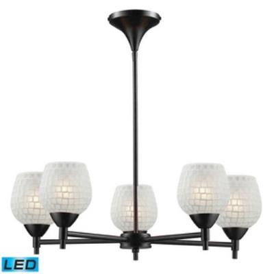 Elk Lighting 10155/5DR-WHT-LED Celina - Five Light Chandelier