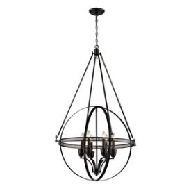 Elk Lighting 10393/6 Hemispheres - Six Light Pendant