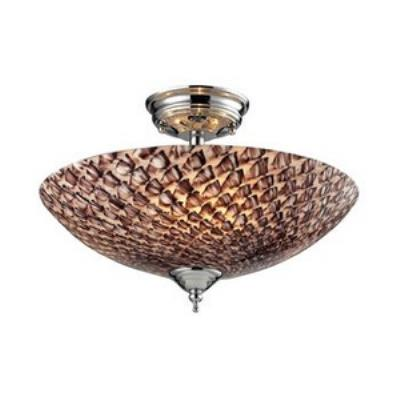 Elk Lighting 11315/3C-G Nightglow - Three Light Semi-Flush Mount