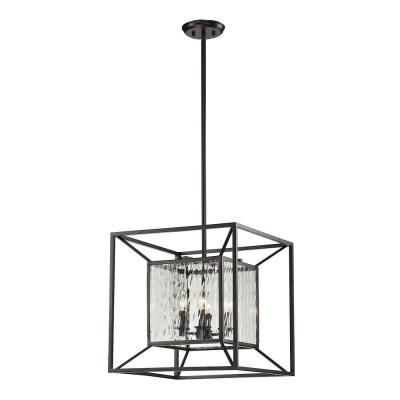 Elk Lighting 14122/4 Cubix - Four Light Chandelier