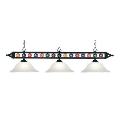 Elk Lighting 190-1-BK-G1 Designer Classics/Island - Three Light Island