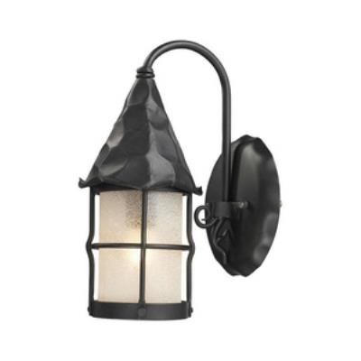 Elk Lighting 381-BK Rustica - One Light Outdoor Wall Sconce