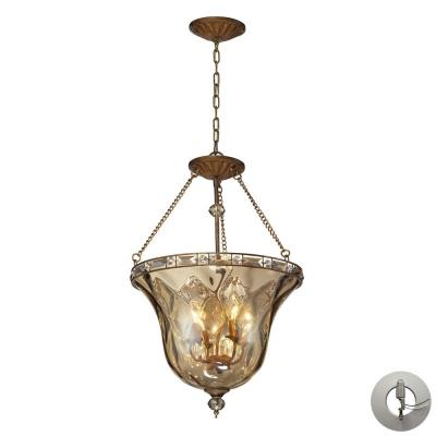 Elk Lighting 46022/4-LA Cheltham - Four Light Semi-Flush Mount