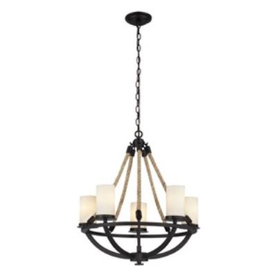 Elk Lighting 63041-5 Natural Rope - Five Light Chandelier
