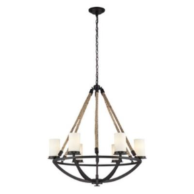 Elk Lighting 63042-6 Natural Rope - Six Light Chandelier