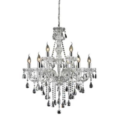 Elk Lighting 80063/6+3 Cotswold - Nine Light Crystal Chandelier