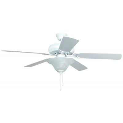 "Ellington Fans E-DCF52MWW5C1 Decorator's Choice - 52"" Dual Mount Ceiling Fan"