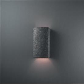 Justice Design 0915 Small Rectangle Open Top and Bottom Sconce