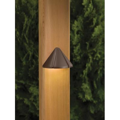 Kichler Lighting 15065BBR Six Groove - Low Voltage One Light Mini Deck Rail Lamp