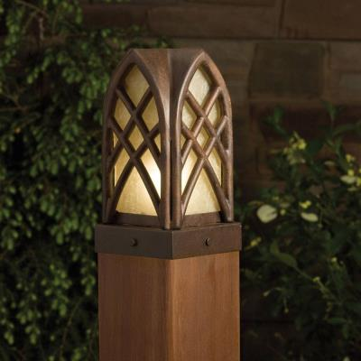 Kichler Lighting 15479TZT Cathedral - Low Voltage One Light Post Mount