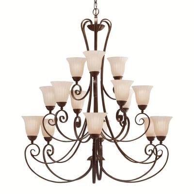 Kichler Lighting 1829TZ Willowmore - Fifteen Light Three Tier Chandelier