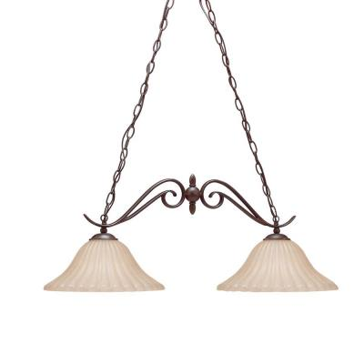 Kichler Lighting 2929TZ Willowmore - Two Light Island Pendant