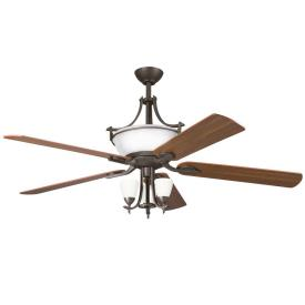 "Kichler Lighting 300011OZW Olympia - 60"" Ceiling Fan"