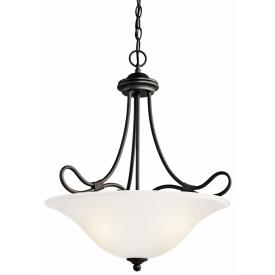Kichler Lighting 3356OZ Stafford - Three Light Inverted Pendant