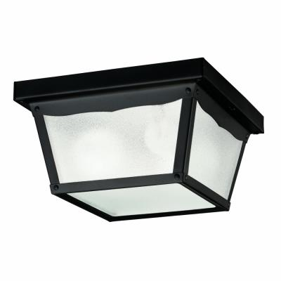 Kichler Lighting 345BK One Light Outdoor Flush Mount
