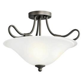 Kichler Lighting 3757OZ Stafford - Two Light Convertible Semi-Flush Mount