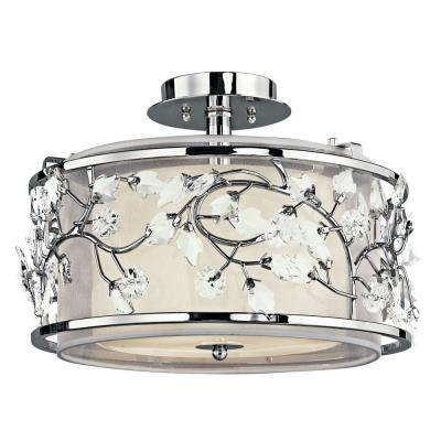 Kichler Lighting 42306CH Jardine - Three Light Semi-Flush Mount