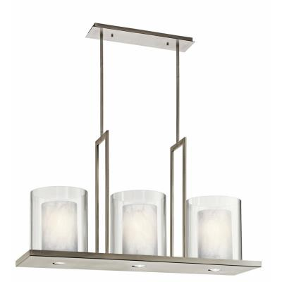 Kichler Lighting 42548CLP Triad - Three Light Linear Chandelier