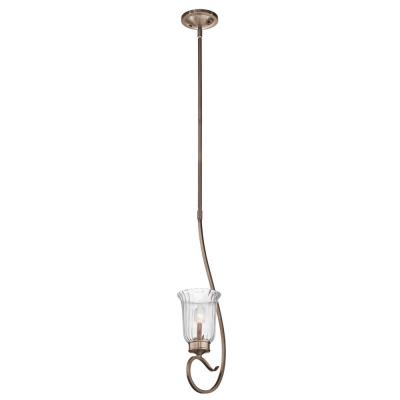 Kichler Lighting 43241BRSG Malina - One Light Mini-Pendant