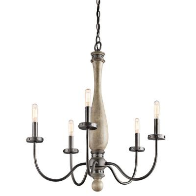 Kichler Lighting 43322DAG Evan - Five Light Medium Chandelier
