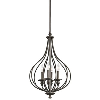 Kichler Lighting 43332OZ Kensington - Four Light Cage Foyer