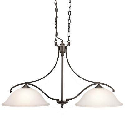 Kichler Lighting 43407OZ Wellington - Two Light Square Island