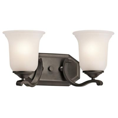Kichler Lighting 45402OZ Wellington - Two Light Square Bath Vanity
