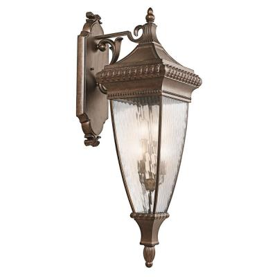 Kichler Lighting 49135BRZ Venetian Rain - Four Light Outdoor Wall Lantern