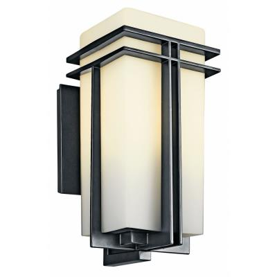 Kichler Lighting 49202BK Tremillo - One Light Outdoor Wall Mount