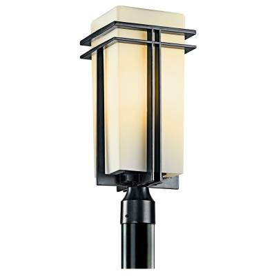 Kichler Lighting 49207BKFL Tremillo - One Light Outdoor Post Mount