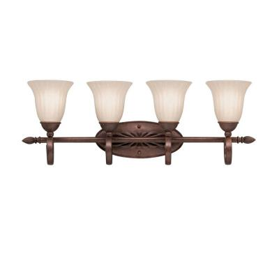 Kichler Lighting 5929TZ Willowmore - Four Light Bath Fixture